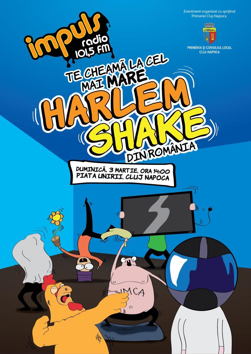 Afis Harlem Shake Cluj